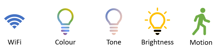 different smart light features